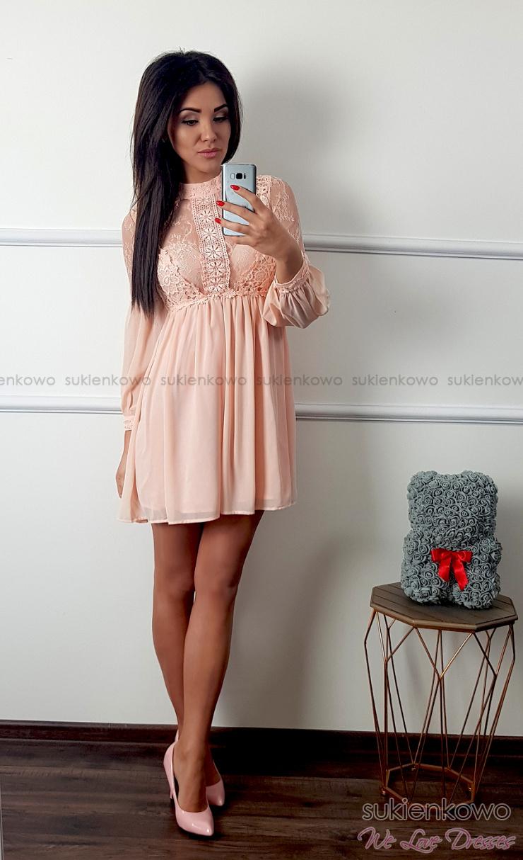 1f7d930726 DESIRE - Zwiewna sukienka w stylu boho jasny róż