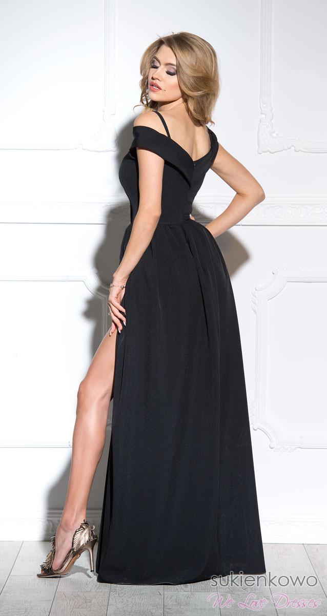 1dda3de884 FEMME - Długa suknia z rozcięciem czarna