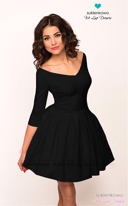 17e54dc906 LISA - sukienka z dekoltem czarna