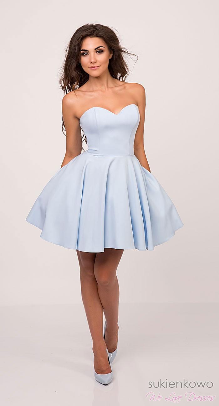 396a75af56 MENRIN - rozkloszowana gorsetowa sukienka BabyBlue