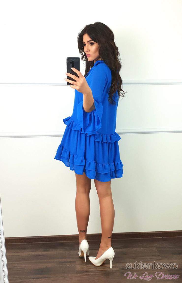 ecf3a3df NINA niebieska sukienka oversize